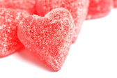 Sugar candy Valentine's hearts — Stock Photo
