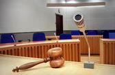 Empty courtroom — Stock Photo