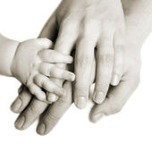Hands of a family — Stock Photo