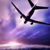 Silhouette of a plane — Stock Photo