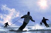 Der skifahrer — Stockfoto