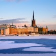 Winter in Stockholm with snow — Stock Photo #4254961