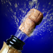 Royalty-Free Stock Photo: Close up of champagne cork popping