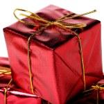 rode geschenkdozen — Stockfoto