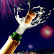 Close up of champagne cork popping — Stock Photo #4255625