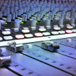 Recording Studio Mixing Console - Stock Photo