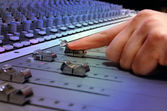 Recording Studio Mixing Console — Stockfoto