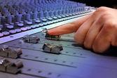 Recording Studio Mixing Console — Stock Photo
