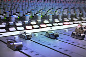Recording Studio Mixing Console — Stock Photo