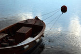 Alone rowing-boat — Stock Photo