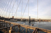 Brooklyn Bridge in the evening — Stock Photo