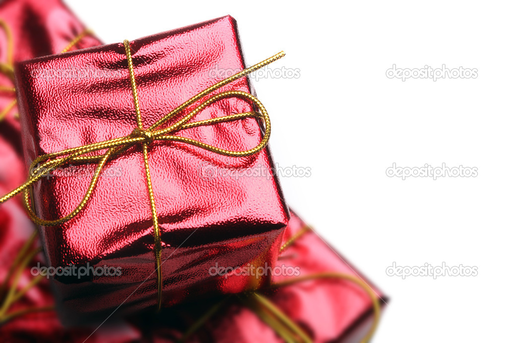 Red Gift Boxes — Stockfoto #4255618