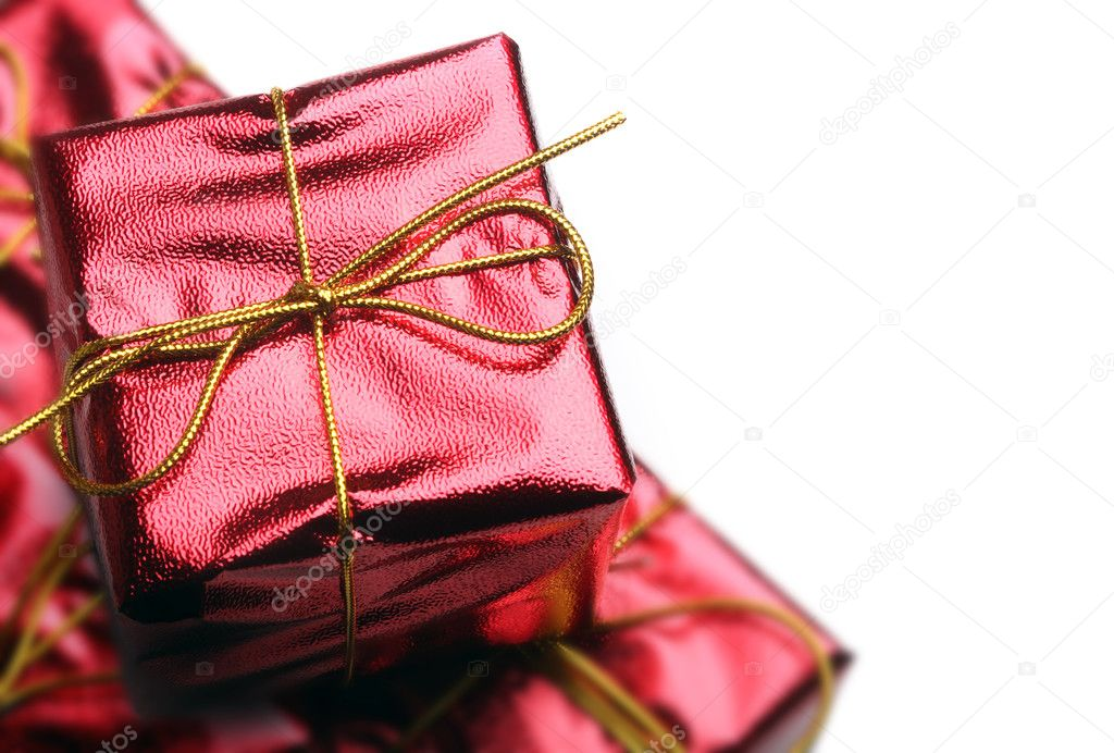 Red Gift Boxes  Foto Stock #4255618
