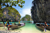 Long tailed boats in Thailand — Stock Photo