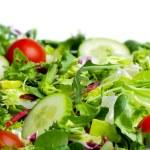 Salad on white background — Stock Photo #5201973