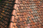 Červená střecha — Stock fotografie