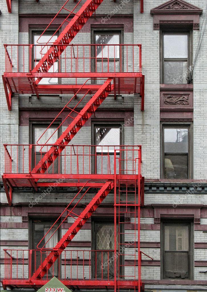 Red Fire Escape Stock Photo 169 Meerisusi 4177298