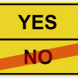Royalty-Free Stock Photo: Sign Yes/No