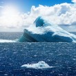 Antarctic ice island - Stock Photo