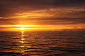 Golden sea sunset idill — Stock Photo