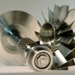 Precision engineered turbines — Stock Photo