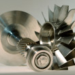 Precision engineered turbines - Stock Photo