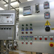 Stock Photo: Industrial control system in modern dairy factory