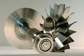 Precision engineered turbines — Stock Photo