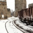 Trains in freight yard — Stock Photo #4174261