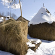 Traditional  haystack on farm — Stock Photo
