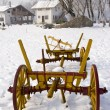 Old cart in the snow — Stock Photo