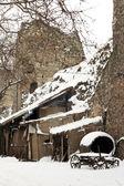 Escena de invierno rural — Foto de Stock
