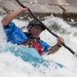 Stock Photo: White water canoieng