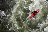 White water canoieng — Stock Photo