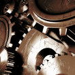 Industrial background with a lots of gears - Foto de Stock  