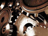Industrial background with a lots of gears — Stock Photo