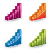 3d vector graph set - icons — Stock Vector