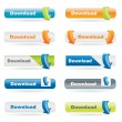 Vector download pulsante set — Vettoriale Stock  #5174921
