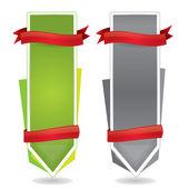 Banner promozionale di stile Web con etichette — Vettoriale Stock