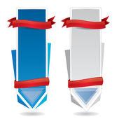 Vertikale werbe-banner — Stockvektor