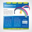 Editable website template with abstract rainbow - Vettoriali Stock