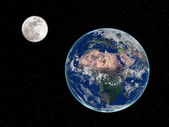 Earth and Moon — Stock Photo