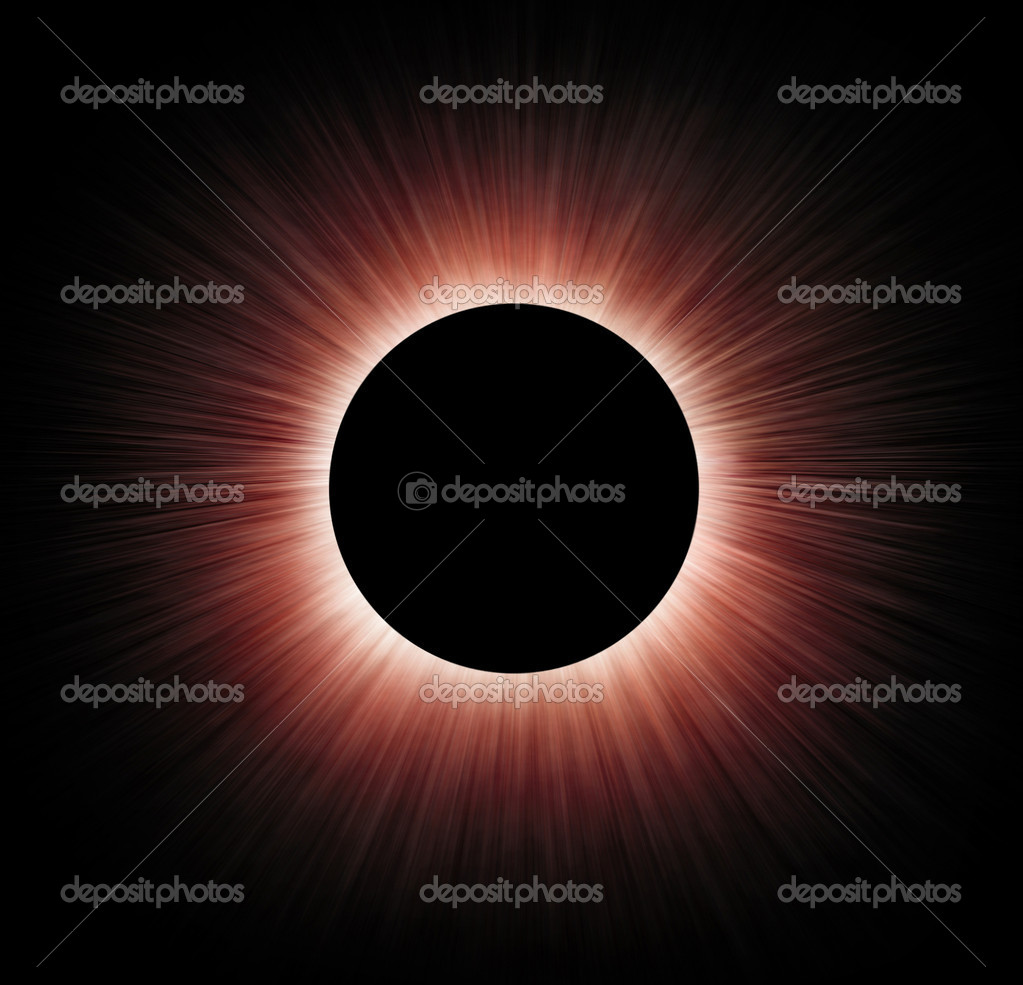 Simulation of total solar eclipse — Stock Photo #4151904