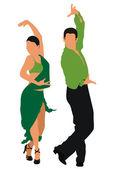 Tancerze — Wektor stockowy