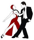 Dancers — Vector de stock