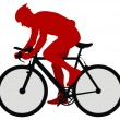 Royalty-Free Stock Vector Image: Bicyclist