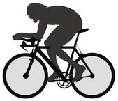 Bicyclist — Stock Vector