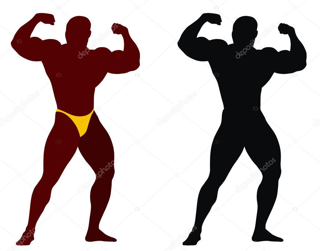 Bodybuilding silhouette