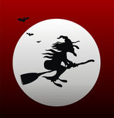 Witch silhouette — Stock Photo