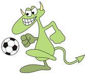 Devilkin voetballer — Stockvector